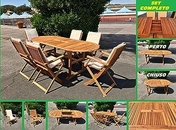 Euroland 87831 - Set de Jardin en Bois d\'acacia - Table ...