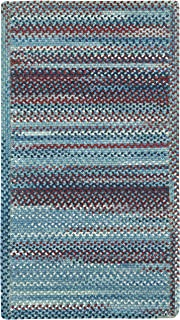 "product image for Capel Rugs Kill Devil Hill Cross Sewn Rectangle Braided Area Rug, 7 x 7"", Blue"