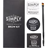 Simply Naked Beauty Eyebrow Color and Shaping Kit with Eyebrow Shaping E-book, Mineral Makeup