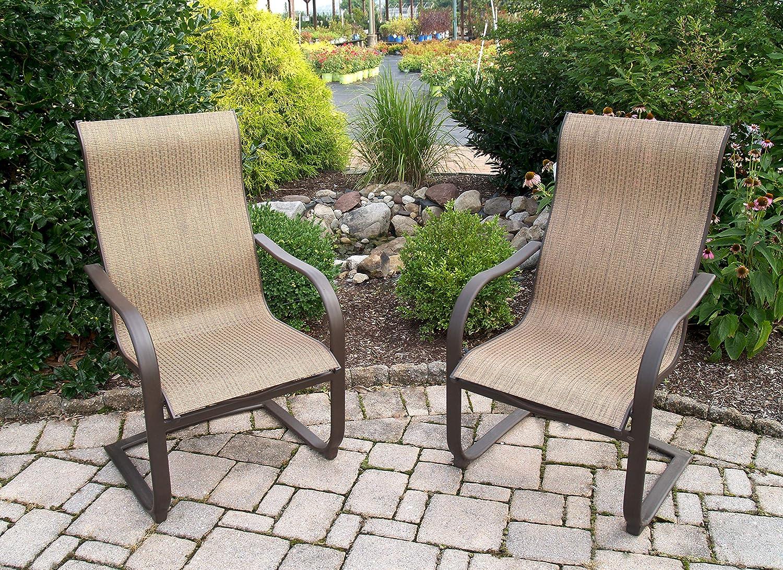 Amazon com agio international adh10019k01 bellevue spring chair quantity 4 garden outdoor