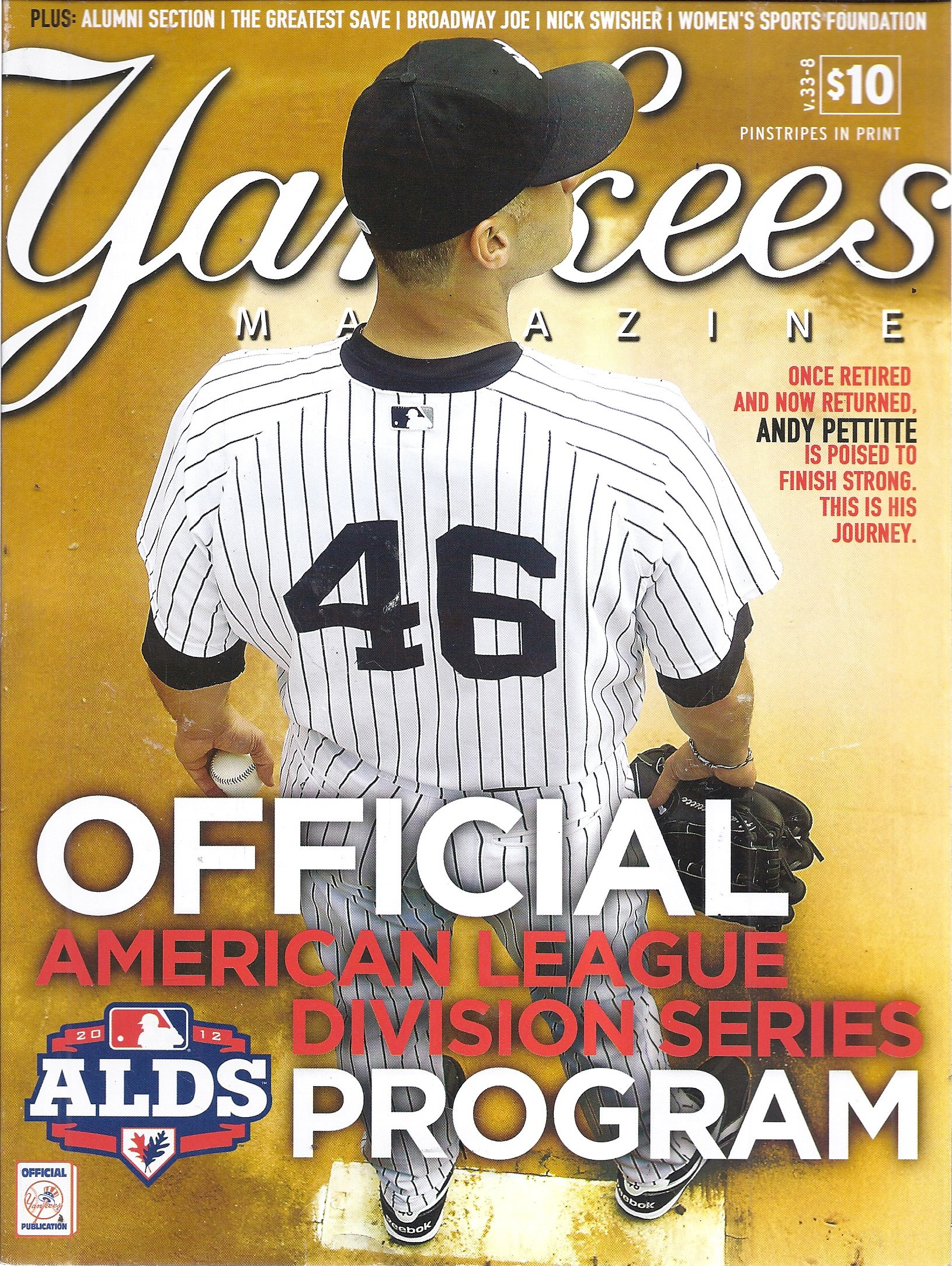 Yankees Magazine (October 2012 - Cover: Andy Pettitte): V: Amazon
