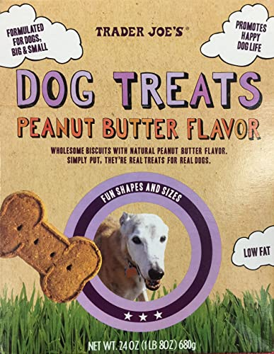 Trader Joe s Natural Dog Treats – Peanut Butter Two 24 Oz Packages