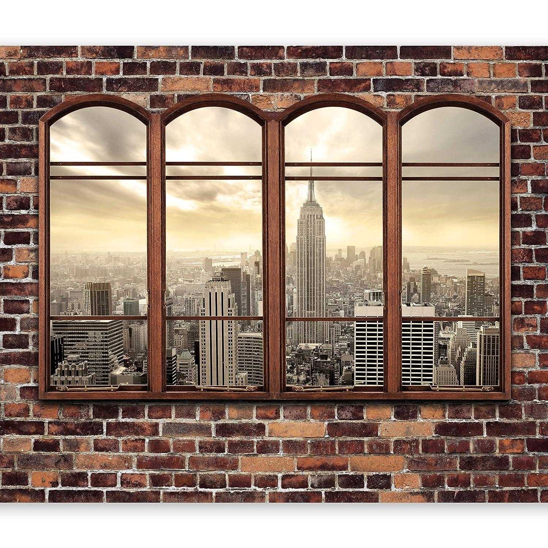 Murando - Fototapete Fenster nach New York 400x280 cm - Vlies Tapete - Moderne Wanddeko - Design Tapete - Wandtapete - Wand Dekoration - City Stady New York Fenster d-A-0043-a-b B01LYLMUWS Wandtattoos & Wandbilder