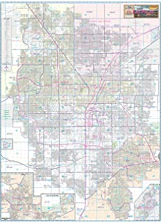 Las Vegas Valley Arterial Streets Wall Map Dry Erase Laminated