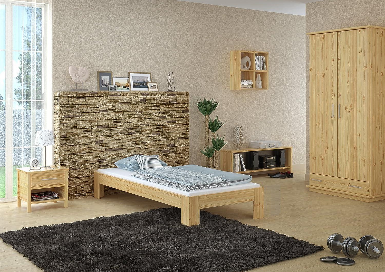 Erst-Holz Elegante futon 90x200 in Pino massello Eco laccato con assi di legno 60.67-09