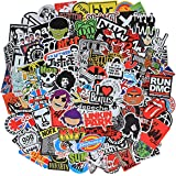 Band Stickers Pack Rock Roll Stickers -100 Pcs Vinyl Waterproof Stickers for Personalize Laptop, Electronic Organ…