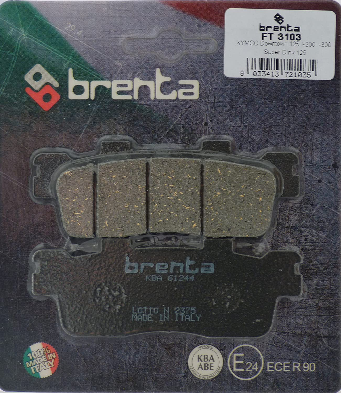 Brenta Pastiglie Freno Organiche Moto per Kymco Downtown 125 I, People 125 GTI, Downtown 300 Frenotecnica FT 3103