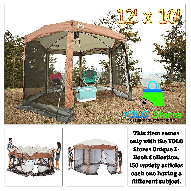 Gazebo pergola patio tent gazebos canopy outdoor furniture metal garden cover sun shelter shade 12 x 10 by yolo stores