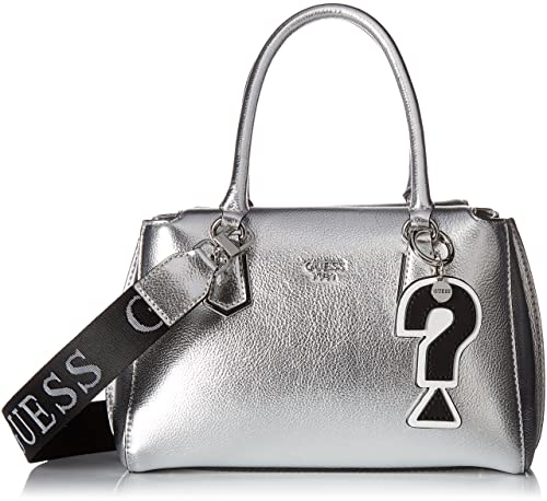 Guess - Felix, Bolsos de mano Mujer, Plateado (Silver/Sil),