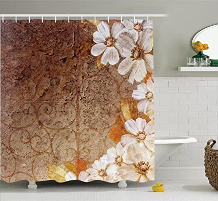 Amazon.com: Ambesonne Grunge Home Decor Collection, Flowers and ...