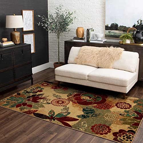 Mohawk Home Geo Floral Ornamental Area Rug