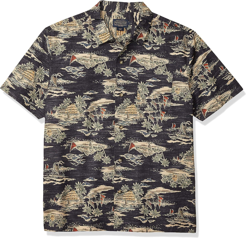 Pendleton Men's Short Sleeve Aloha Printed Shirt