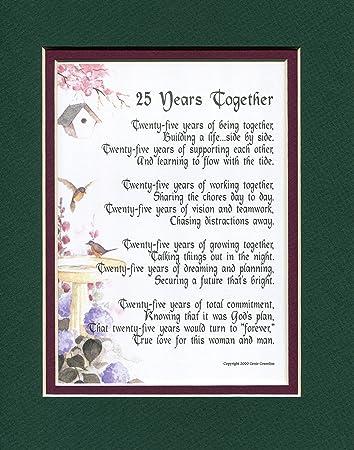 free 25th wedding anniversary poems