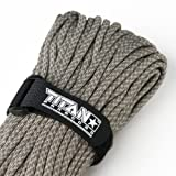 """TITAN MIL-SPEC 550 Paracord / Parachute Cord, 103 Continuous Feet, 620 lb. Breaking Strength - Authentic MIL-C-5040, Type III, 7 Strand, 5/32"""" (4mm) Diameter, 100% Nylon Military Survival Cordage. Includes 3 FREE Paracord Project eBooks."""