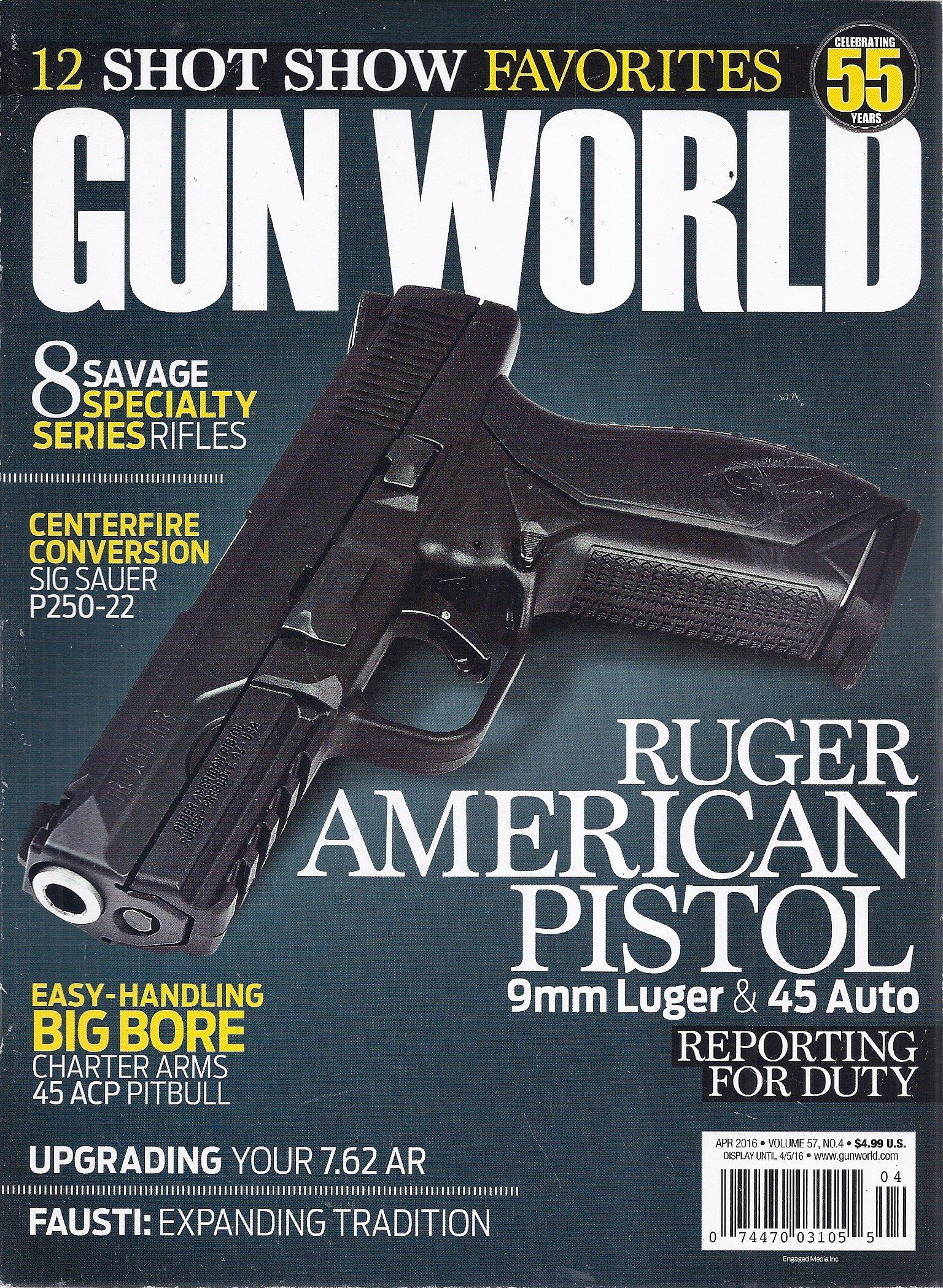 Gun World Magazine (April 2016 - Cover: Ruger American