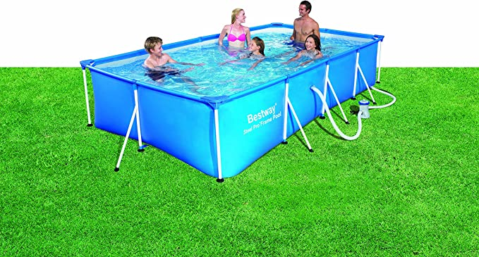 BESTWAY 8320010 PISCINA RECTANG C/HIDROBOM 400x211x81cm: Amazon.es ...