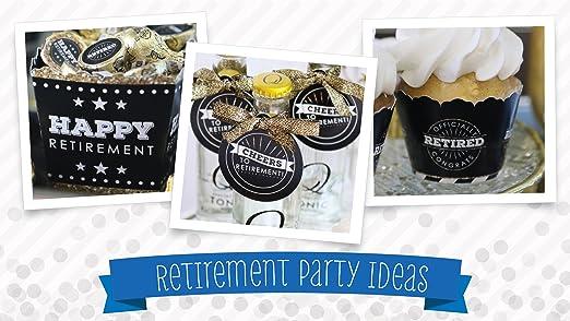 amazon com happy retirement retirement party round candy sticker
