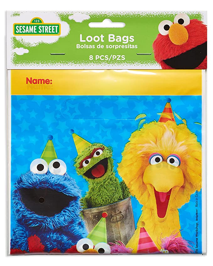 American Greetings Sesame Street Treat Bags (8 Piece)