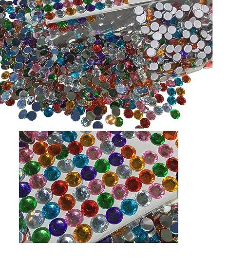 400/pezzi 8/mm etichetta glitzernde disegno rotonda pietra Chen disegno Miscela Deko strass rettangolare acrilico pietre opal effetto arcobaleno effetto laser effetto arcobaleno pietre trasparente cristallo basteln gltzer pietre gioielli pietre S