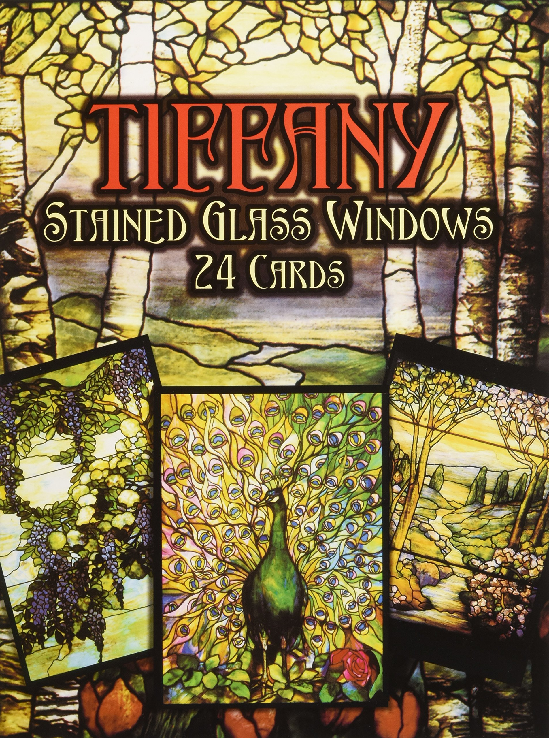 Tiffany Stained Glass Windows In Full Color Post Cards 24 Cards