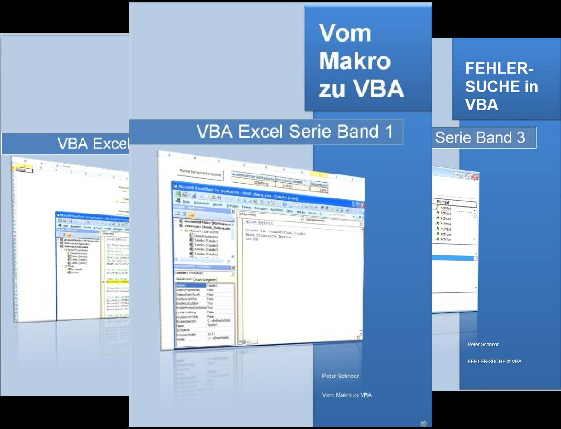 VBA Excel Serie (Reihe in 3 Bänden)