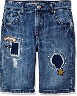 RED WAGON Boy's Patch and Badge Denim Shorts