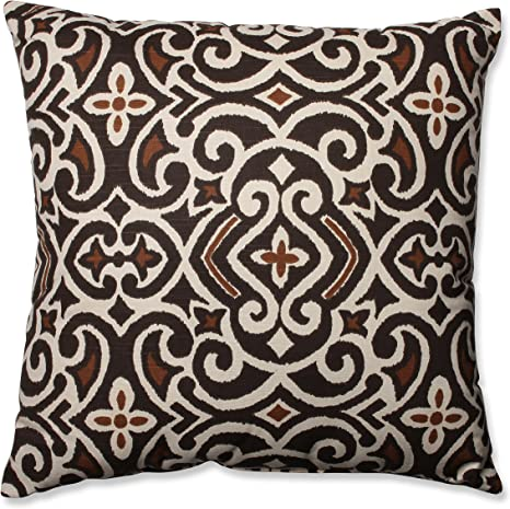Pillow Perfect Brown Beige Damask 24 5 Inch Floor Pillow Home Kitchen