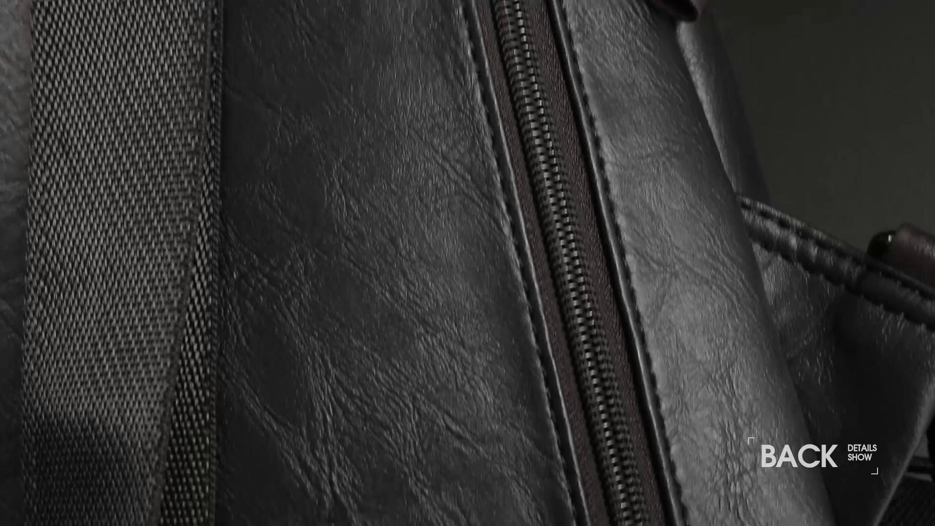 Alena Culian Sling Backpack Men Leather Chest Bag Crossbody Shoulder Bag For Men(black) 20