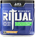 ANS Performance Ritual Pre-Workout, Delivers Extreme Energy with Intense Focus and Raw Power, Sugar-Free Peach Mango Twist, 240 Gram