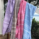 PLAYA Hamamtuch - 100% Baumwolle – OEKO-TEX Standard 100 Certificat - Prewashed – super sanft – direkte Nutzung – Hamamtuch – Badetuch – Handtuch Backpacker – Strandtuch – Saunatuch – Babytuch – Turkish Towel – Pestemal – Fouta (Light Blue)
