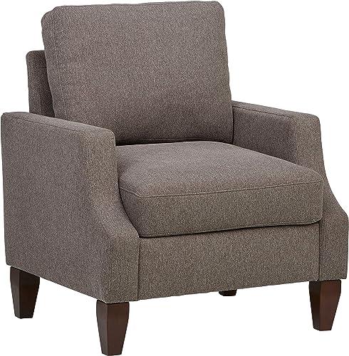 Amazon Brand Ravenna Home Amanda Curved Arm Upholstered Chair