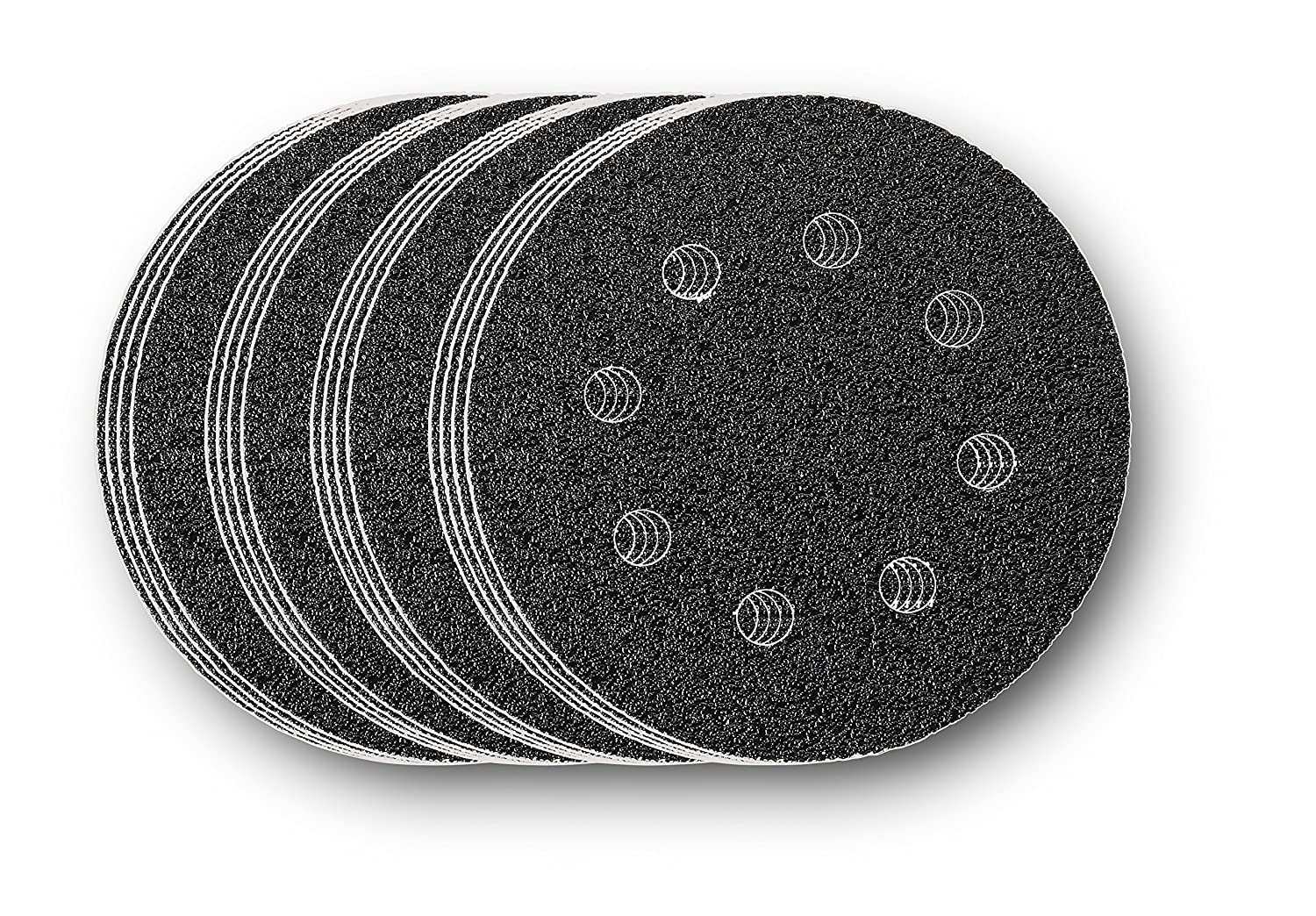Multi-Colour 16-Pack Fein FMM-Accy Round Perforated G240 Sanding Sheet 240 Grit