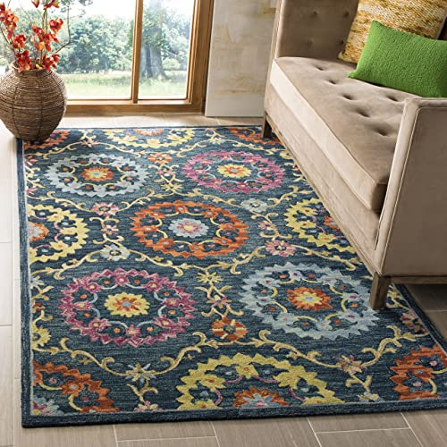Safavieh Suzani Collection SZN328A Hand-Hooked Boho Premium Wool Area Rug