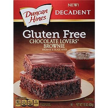 Amazon Com Duncan Hines Decadent Brownie Mix Gluten Free
