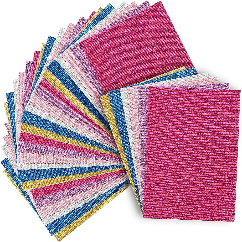 confezione da 30 Cartoncino glitterato per fai da te artigianato