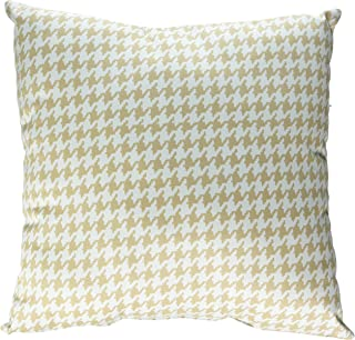 product image for Glenna Jean Central Park Pillow Houndstooth Check, Tan/White