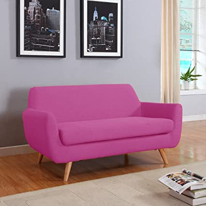 Amazon.com: Divano Roma Furniture Colorful Mid Century Linen ...