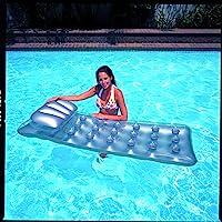 İntex Yastıklı Bardaklı Gümüş Deluxe Deniz ve Havuz Yatağı