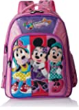 Minnie Polyester 16 Inch Purple and Pink Children's Backpack (Age group :6-8 yrs)