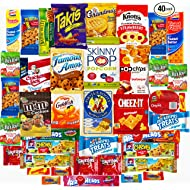 Ultimate Sampler Care Package (40 Count) - Assortments of Snacks, Chips, Cookies, Bars, Candies, Nuts for Office, Meetings, Schools,Friends & Family, Military,College, Halloween, Variety Fun Pack