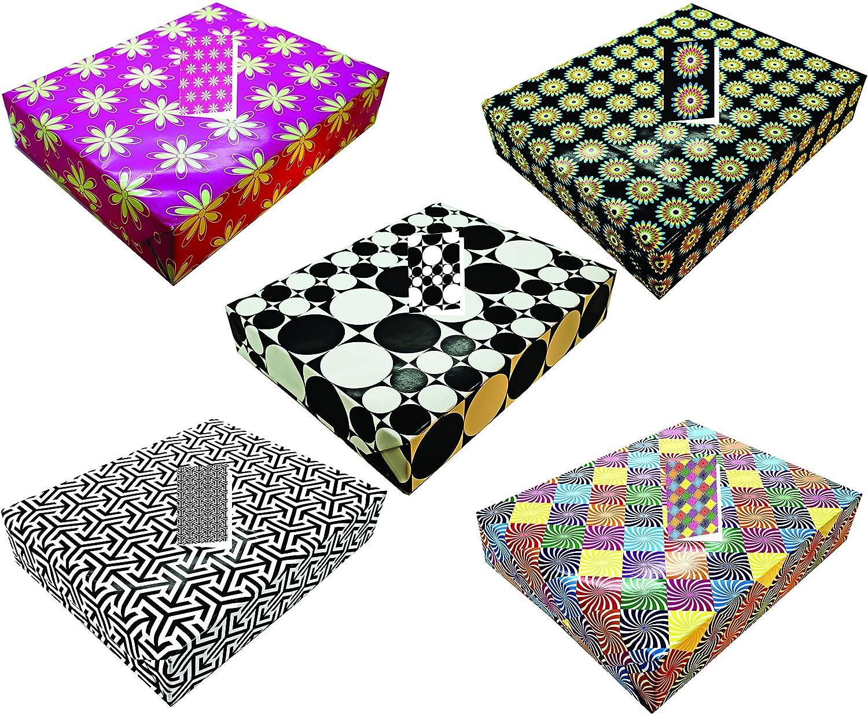 10fogli piegati a portata di mano con etichette 5modelli di carta da regalo per compleanno o qualsiasi occasione. Adatto per uomo e donna Greetingsbox