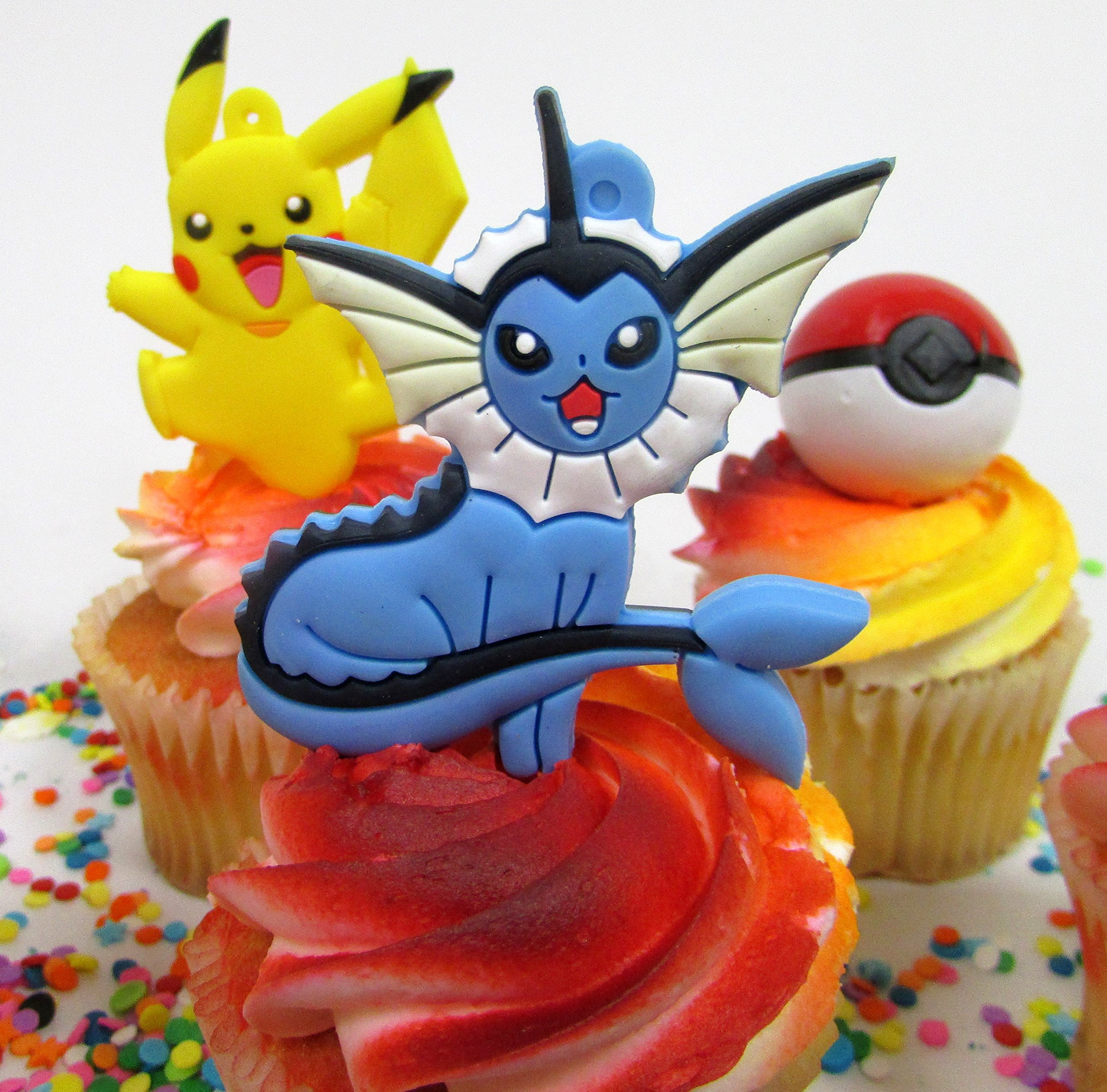 Pikachu and Friends Cupcake Topper Set with 6 Random Pocketmonster Characters and 6 Poke Balls by Cupcake Topper (Image #5)