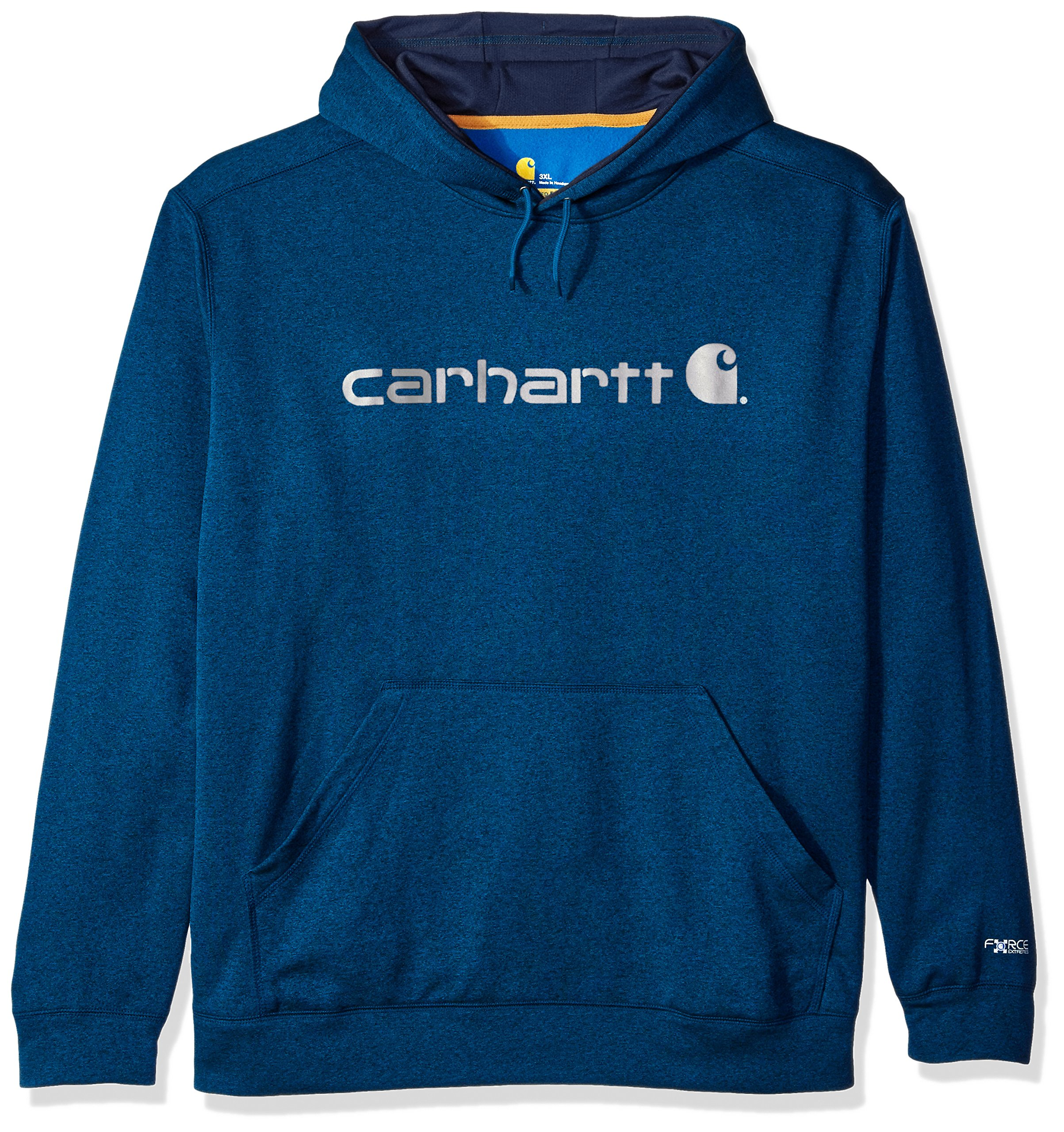 Carhartt Men's Big and Tall Force Extreme Hooded Sweatshirt (Regular and Big & Tall Sizes), Huron Heather, 4X-Large