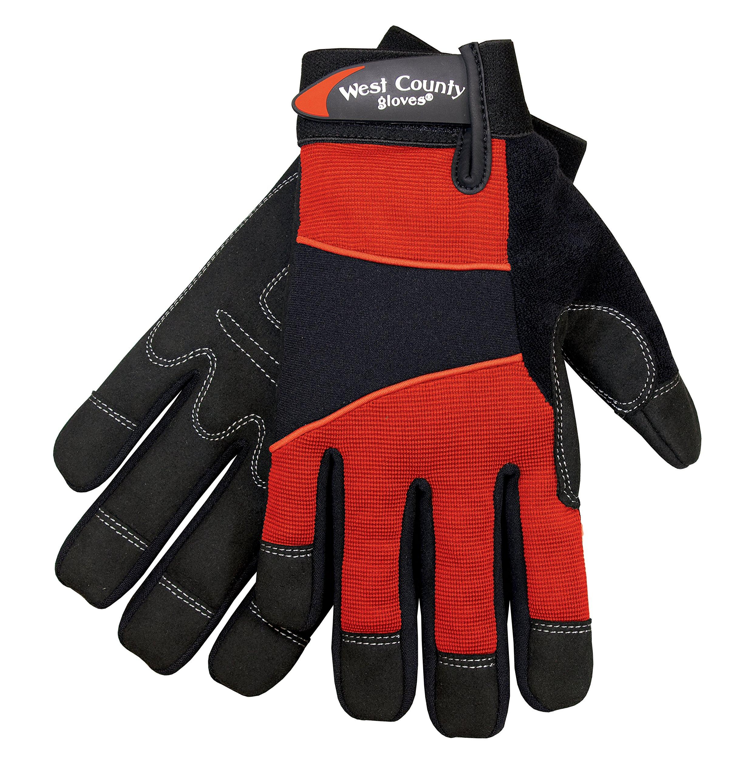 West County Gardener 012B/XS Women's Work Glove, X-Small, Brick