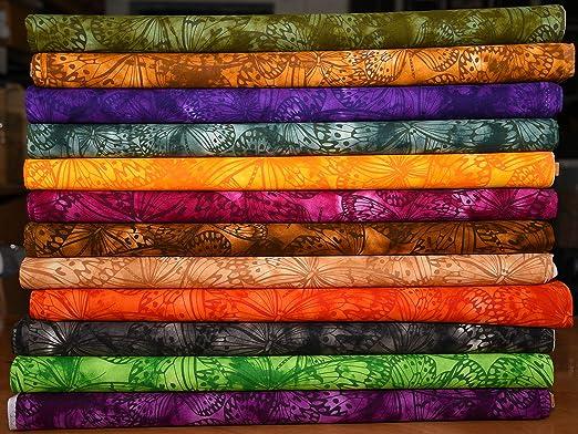 Paquete de retales de 100% algodón Indonesia Bali Batik tela 12 x ...