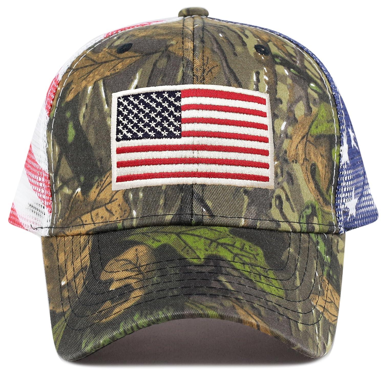 31f6f937c7f Amazon.com  THE HAT DEPOT Tactical Operator USA Flag Cap (Flag-Real Tree  Camo1)  Clothing