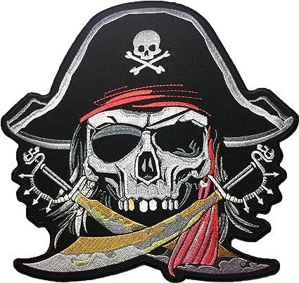 Custom Made T Shirt Pirate Skull Cross Swords Pirates Weapons Men Boys Teens