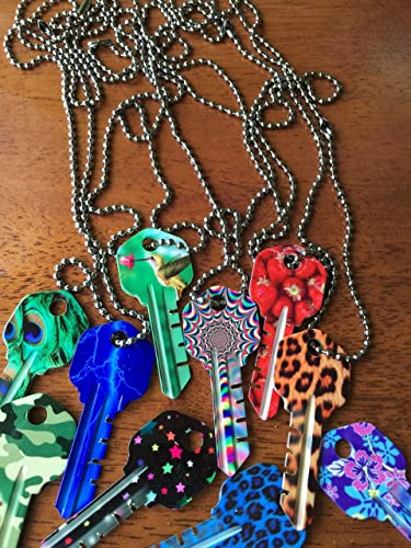 Amazon.com: Pay It Forward by Giving a Key Necklace ~PINK LEOPARD Key Necklace~Personalize It with YOUR Special Word or Name: Handmade
