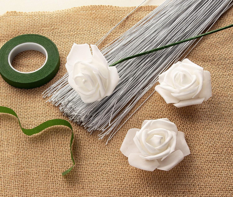 20 ga Dark Green 300-Piece Floral Wire Flower Wire 20 Gauge Floral Stem Wire for Florist Flower Arrangement 16 Inches in Length