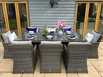 Venice Luxury Grey Rattan Garden Or Conservatory Seat